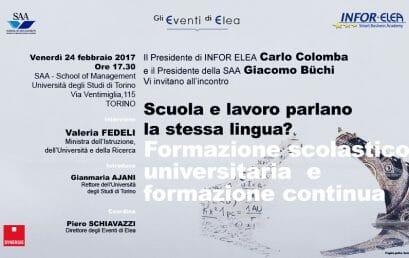 24 febbraio 2017 – Evento Elea – Torino – Scuola e Lavoro parlano la stessa lingua?