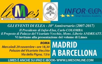 29 novembre 2017 – Evento Elea – Roma – Madrid a Barcellona
