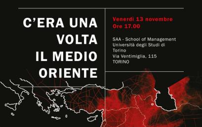 13 novembre 2015 – Evento Elea – Torino – C'Era Una Volta Il Medio Oriente